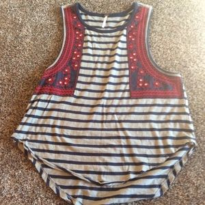Free people striped shirt in size small